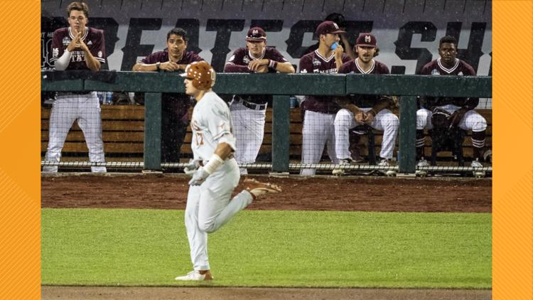 Texas baseball beats Mississippi State, one win away from CWS Final