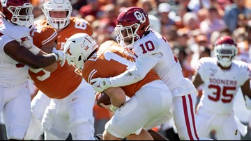 HIGHLIGHTS: Oklahoma Sooners top Texas Longhorns in AT&T Red River Showdown, 34-27