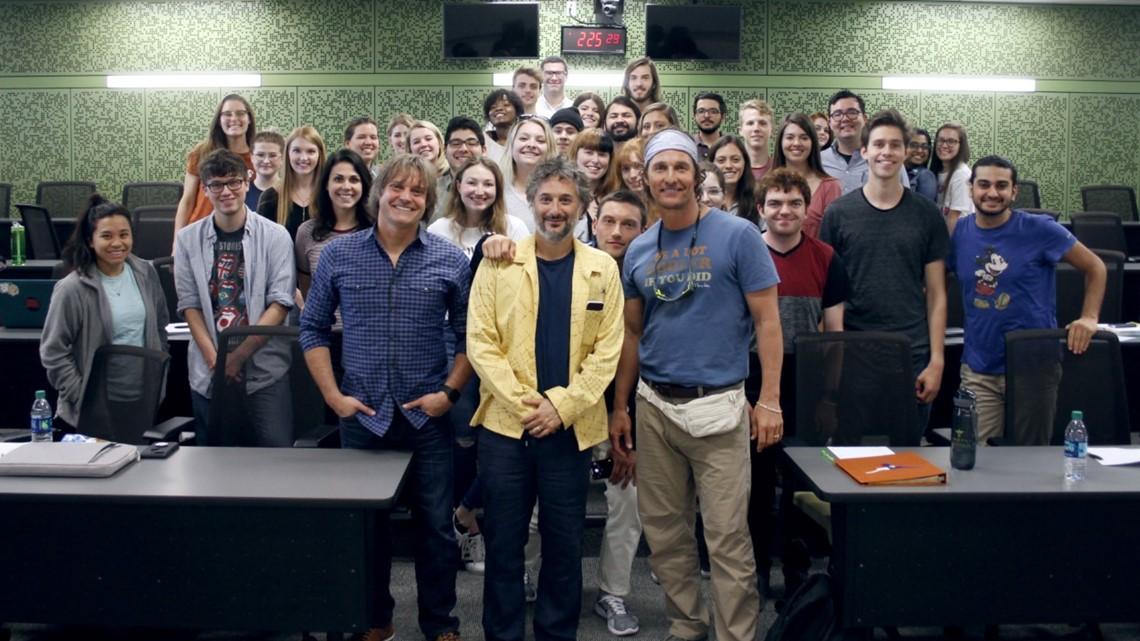PHOTOS: Matthew McConaughey teaching film at UT Austin ...