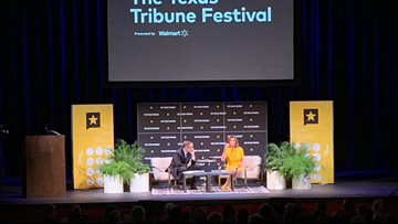 Willie Nelson spotted in front row for Nancy Pelosi's Texas Tribune Festival talk