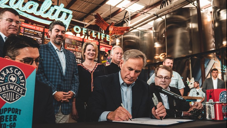Texas governor signs bill allowing breweries to sell beer-to-go