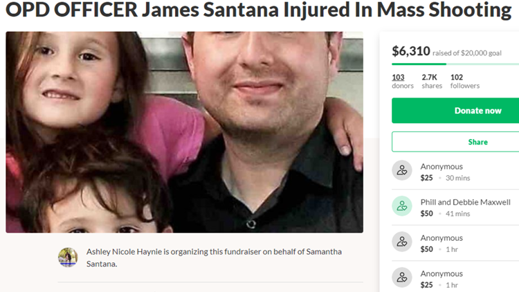 OPD officer injured in Odessa shooting GoFundMe page
