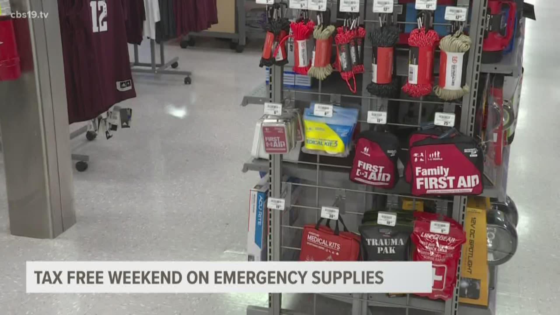Texas Emergency Preparation Supplies Sales Tax Holiday 2020 Khou Com