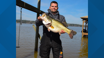 Angler reels in monster bass on Lake Nacogdoches; new lake record pending