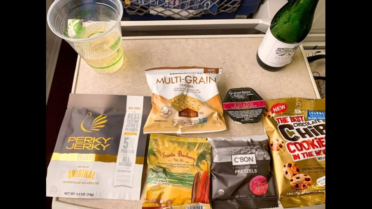 If you don't bring your own snacks and drinks, you'll need to purchase them on board. (Photo by Summer Hull / The Points Guy)