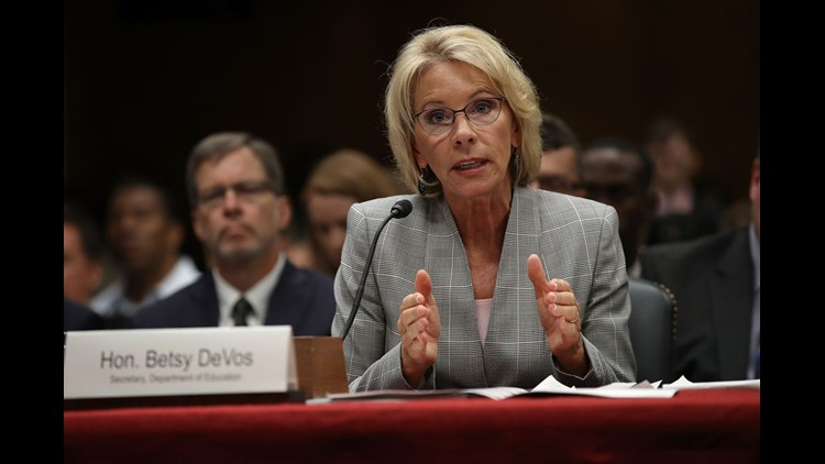 <p>The states' complaint alleges that the Education Department violated federal law by rescinding the 'borrower defense' rules, which were finalized by the Obama administration in November.</p>