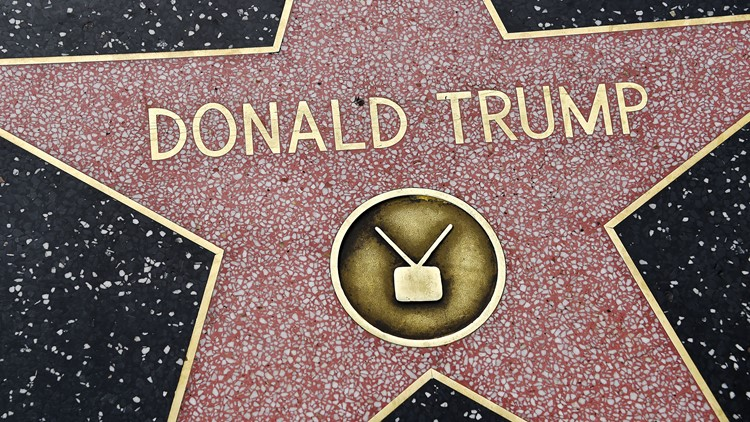 President Trump's star on Hollywood Walk of Fame destroyed