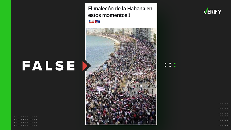 Amid anti-government protests in Cuba, false photos and videos are being shared on social media