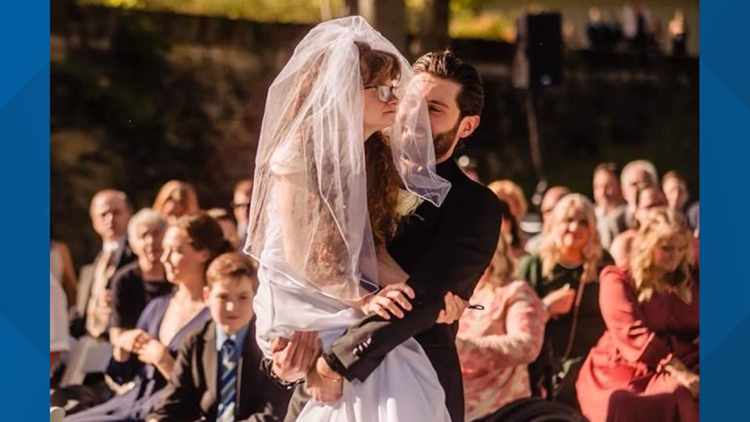 Marysville couple's wedding day goes viral after groom carries sister-in-law down the aisle