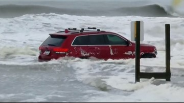 'Hey, we found your Jeep on the beach': Owner did not know his SUV was stuck in the waves