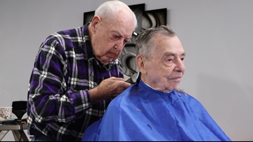 'I'll have to quit someday, but not today' | 92-year-old North Carolina barber has been cutting hair for more than 73 years