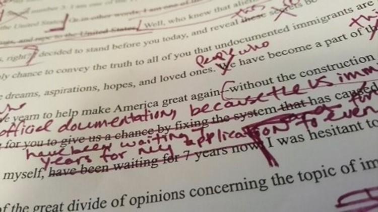 Larissa Martinez's valedictory speech went through numerous edits.