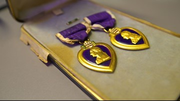 Fort Worth man searching for rightful owner of two Purple Hearts