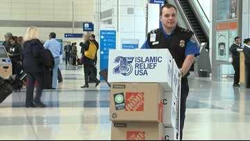 Muslim groups help TSA agents as they remember the travel ban protests from 2017
