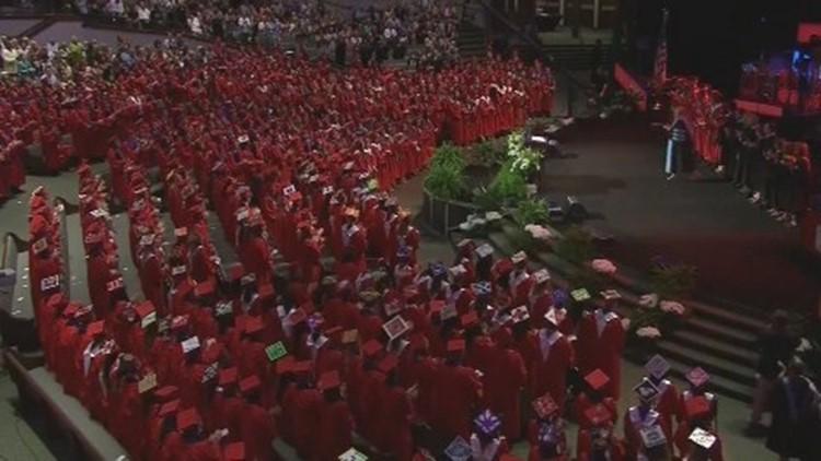 Larissa Martinez's classmates gave her a standing ovation after the speech.
