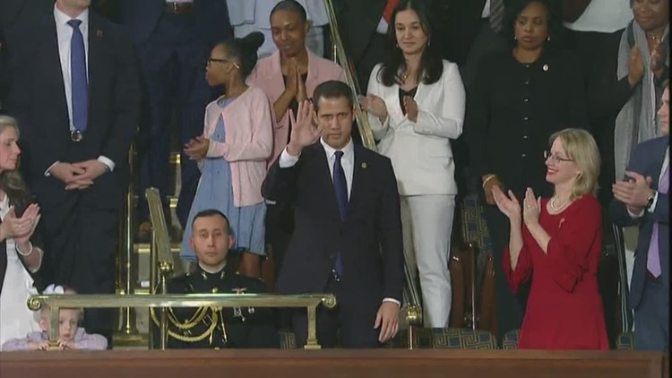 Venezuelan opposition leader Juan Guaidó at Trump's State of the Union