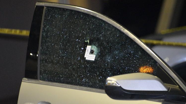 Vehicle located near shooting scene