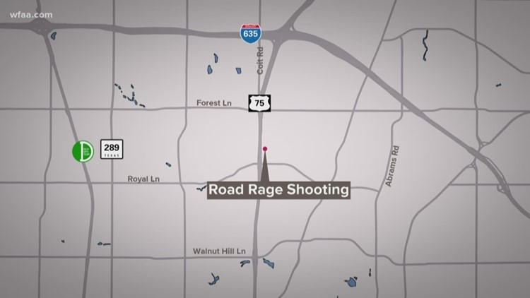 1 shot in apparent road rage incident, Dallas police say