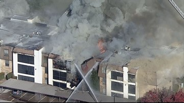 60 displaced, firefighters rescued during 4-alarm blaze at Dallas apartment complex