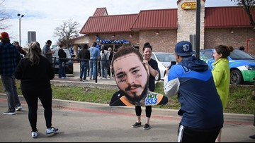 Post Malone surprises hometown fans with hundreds of free signature Crocs