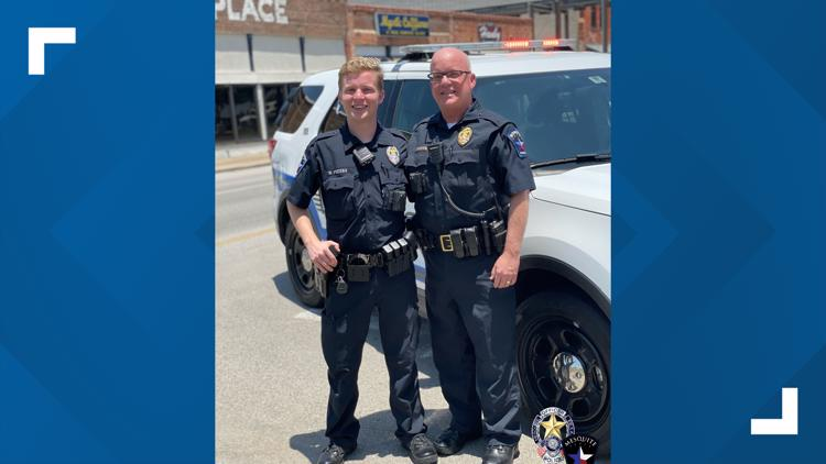 Retiring Mesquite police captain spends last patrol with his rookie partner – his son