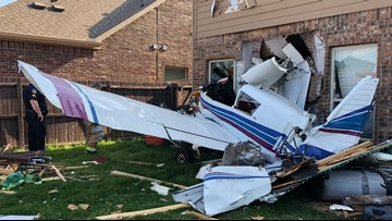 'It felt like an explosion': Plane crashes into home near Dallas; two injured