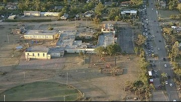 Two Dallas schools likely completely destroyed after Sunday's storms, superintendent says