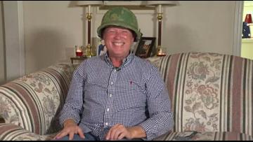 'It still fits!'   Veteran gets back long lost army helmet for Christmas