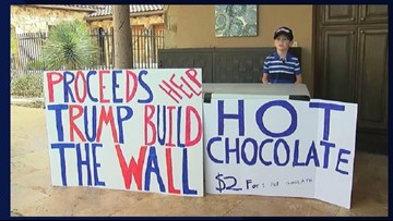 Austin boy called 'Little Hitler' for selling hot cocoa to raise money for border wall