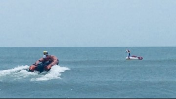 8-Year-Old Riding Unicorn Float Rescued At Oak Island After Wind Gust Blew Raft Out To Sea