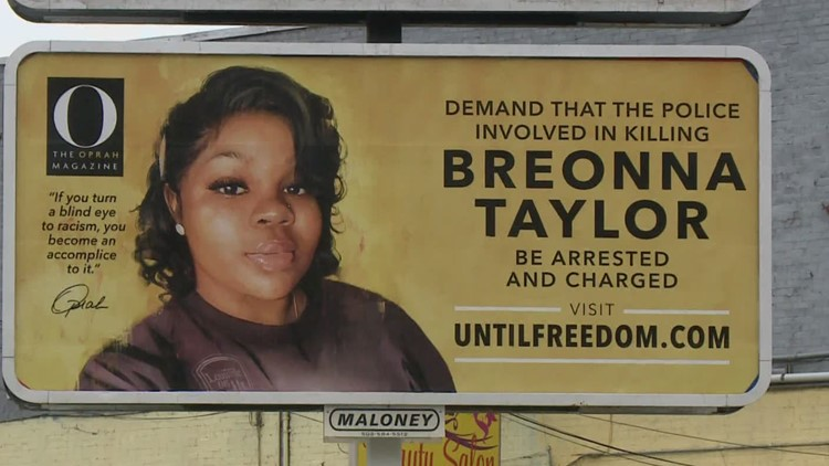 26 Billboards put up across Louisville demanding officers who killed Breonna Taylor be arrested