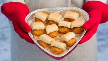 Give your sweetie a heart-shaped tray of Chick-fil-a for Valentine's Day