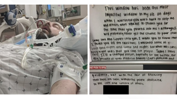 COVID-19 patient who left heartwarming note for Cleveland caregivers shares story of survival