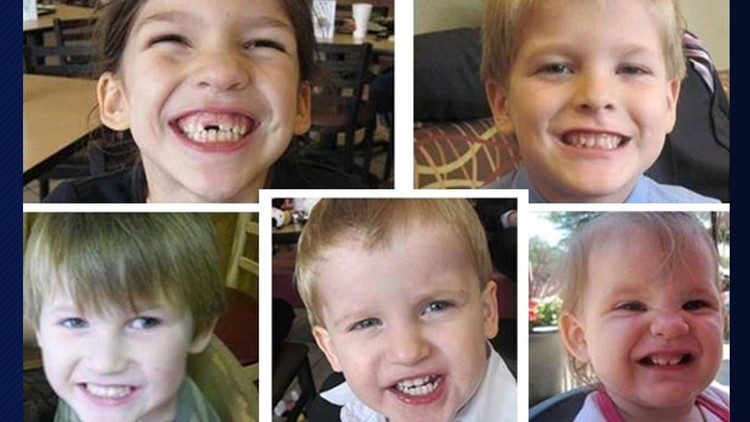 The Jones children: Mera, Elias, Nahtan, Gabriel and Elaine
