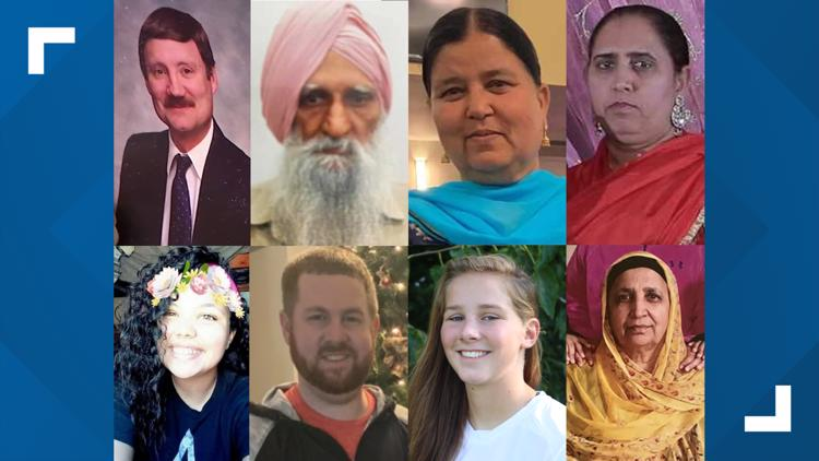 Faces of the victims in the Indianapolis FedEx mass shooting