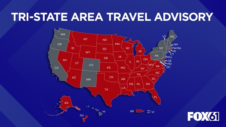 Connecticut Sees Highest Covid 19 Positivity Rate Since June Michigan Ohio And Virginia Added To Travel Advisory List Khou Com