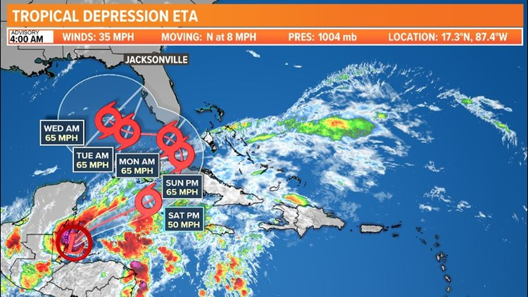 Tropics update: Not done with Eta yet as Cuba and Florida watch forecast track closely