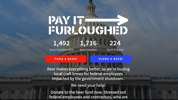 Website lets you buy a beer for furloughed government workers