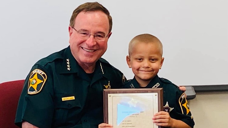 Preschooler fighting cancer becomes honorary Florida deputy for a day
