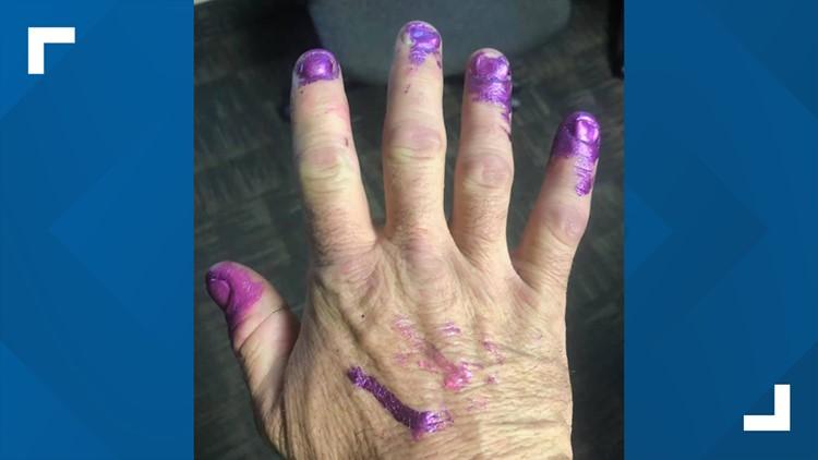 purple nails 10 14 19