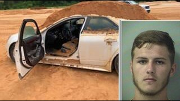 Florida man accused of dumping load of dirt on his ex and her car