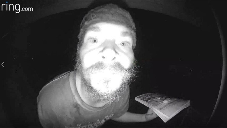 Florida man caught licking doorbell