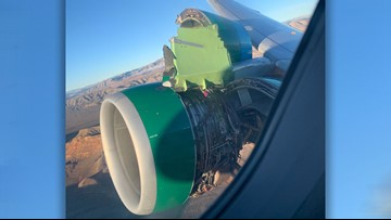 Engine cover rips off Frontier Airlines flight from Las Vegas to Tampa