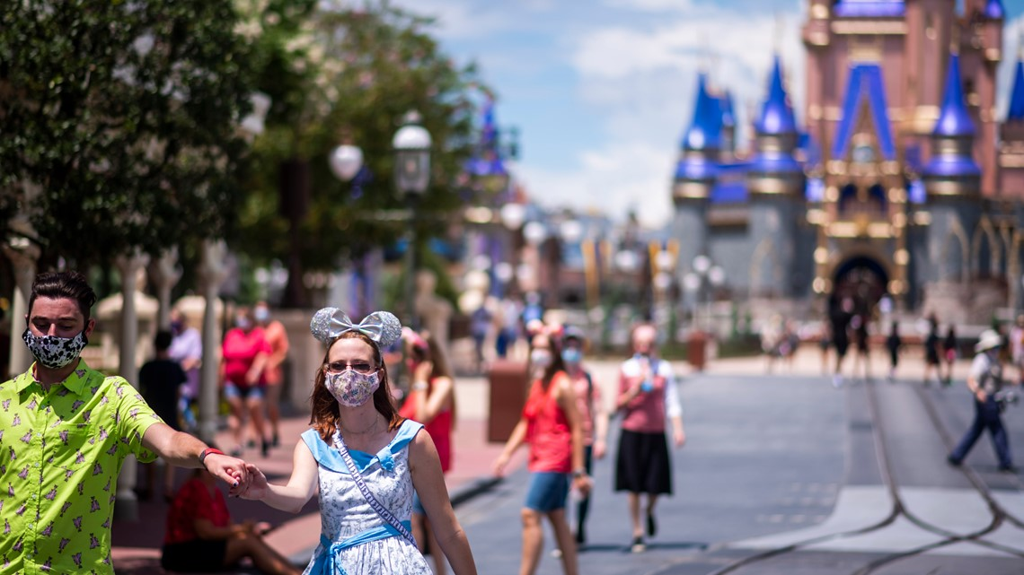 Disney World will not require proof of vaccination but you still can't hug the characters