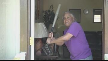 Florida woman hits 300-pound, half-naked attacker with baseball bat