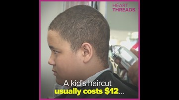 Barber gives free cuts to kick off a new school year