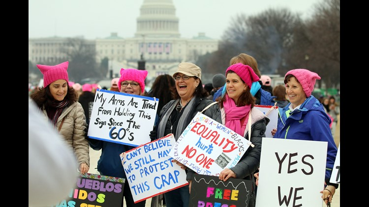 Thousands descend on DC for Women's March