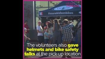 Non-profit org gives immigrant children free bikes