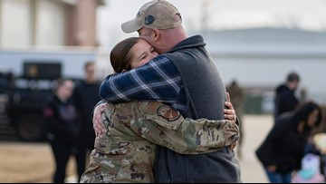 27th Fighter Squadron Airmen at Joint Base Langley–Eustis return from deployment