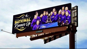 Writer slams LSU gymnastics for billboard honoring 2nd place finish - Twitter slams back